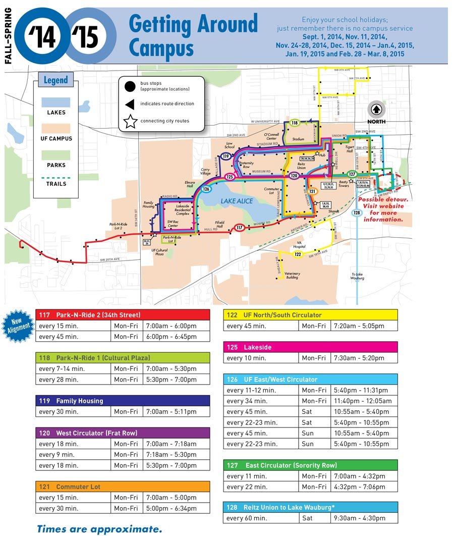 Campus map and Service